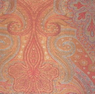 Clarence House ETRO Anzio Paisley Wool Italy Red New