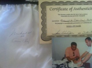 Muhammad Ali aka Cassius Clay Autographed Boxing Trunks