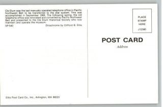 Postcard Pacific Northwest Bell Telephone CLE Elum WA