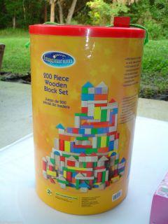 Imaginarium Wooden Block Set 200 Pieces Toddlers Boys Girls 2T 3T 4T