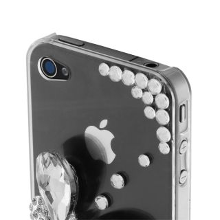 Diamond 3D Butterfly Hard Shell Case Apple iPhone 4 4S Clear Stylish