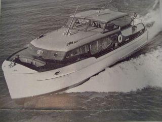 Dumas Chris Craft 40 Challenger Model Boat Plan Set