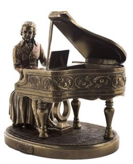 Mozart at Piano Statue Classical Music Composer Bronze