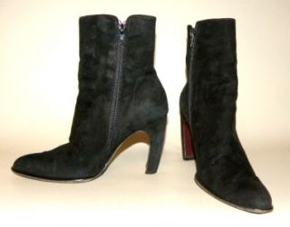Claudia Ciuti Black Suede Womens Boots Size 8M in Italy