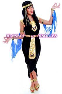 E15 Ladies Cleopatra Egyptian Goddess Fancy Dress Halloween Costume