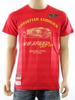 100% Auth New Christian Audigier Ed Hardy Garage CA Race Team T Shirt