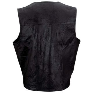 Genuine Leather Vest with Embroidered Christian Patch