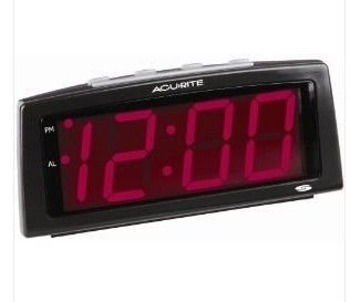 Digital Alarm Clock Large Display Red LED Quick Shipping