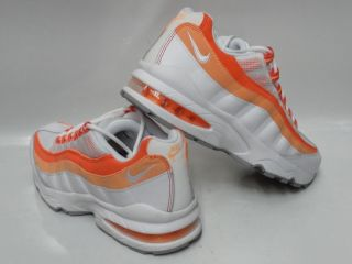 Nike Air Max 95 White Peach Cream Bright Coral Sneakers Womens Size
