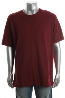 Club Room New Red Cotton Short Sleeve Crew Neck T Shirt Top L BHFO