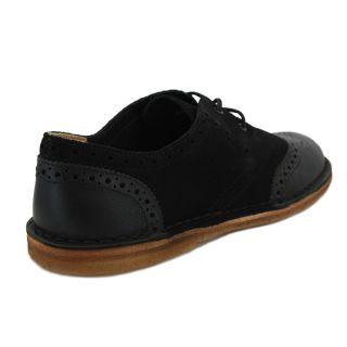 Clarks Originals Jink Brogue Mens Laced Leather Suede Shoes Black