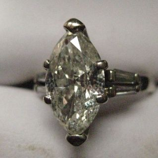 Ladies 2 16 Carat Diamond Ring Marquise Cut 18K White Gold Mount 4