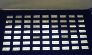 Franklin Mint Sterling Silver Classic Car Miniature Ingots in Case C w