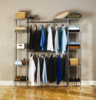 Extra closet space portable garment wardrobe rack for Extra closet storage