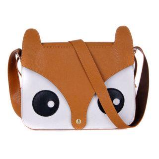Shoulder Bag Messenger Handbags School Tote Owl Fox PU Purse