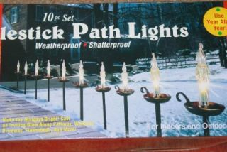 Nostalgic Candlestick Pathway Light Set Christmas Lawn Display Decor