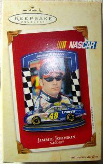 Hallmark 2003 Jimmie Johnson NASCAR Christmas Ornament New