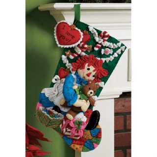 Raggedy Ann Felt Christmas Stocking Kit New Toys Gifts