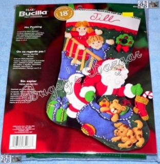 Bucilla No Peeking Santa Felt Christmas Stocking Kit