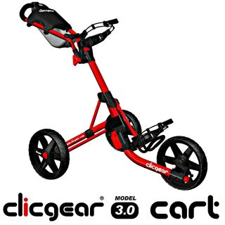Clicgear Model 3 0 Push Cart Red Brand New in Box 2012