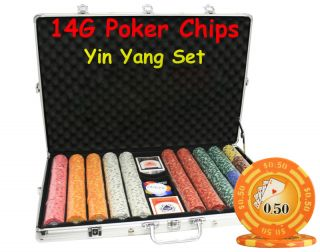 1000pcs 14g Las Vegas Casino Clay Poker Chips Set Y9 Custom Build