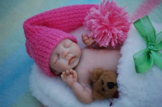 OOAK Polymer Clay Full Sculpt Baby Opal by Tatyana