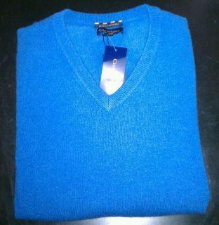 NWT Club Room Estate Cashmere Sweater Mens XLarge Bright Cobalt Blue V
