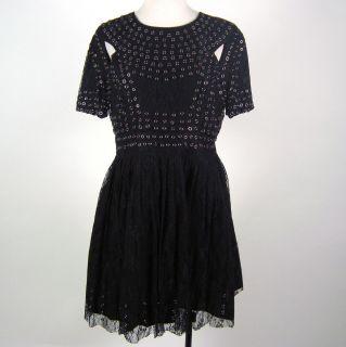 Christopher Kane for Top Shop Black Lace Dress Size 10