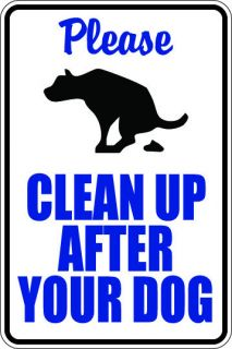 Clean Up After Your Dog Sign Vinyl Sign Home Yard