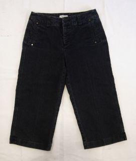 Womens Christopher Banks Denim Blue Capri Stretch Jeans Pants Size 4