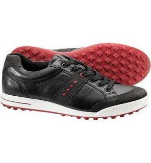 Ecco Mens Street Premier Golf Shoes * Size 10   10.5 * Moonless Black