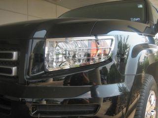 06 2012 Honda Ridgeline Chrome Headlight Bezels Covers Trim
