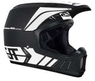 JT Racing ALS2 Full Face Helmet   Black/White 2012
