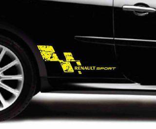 RENAULT SPORT CLIO MEGANE VINILO PEGATINA STICKER DECAL AUFKLEBER