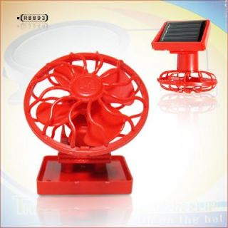 NEW Solar Sun Power Energy Panel Cooling Cell Fan Clip on Red