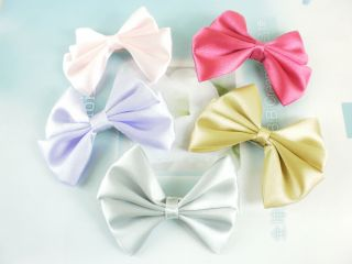 BN 5 Color Bowknot Hair Bow Clips Girl Hair Accessories