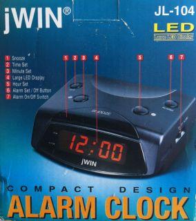clock digital large LED display Jwin JL 104 digital clock time clock