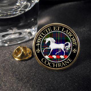 Cochrane Scottish Clan Crest Lapel Pin Badge Gift