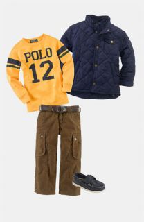 Ralph Lauren T Shirt, Cargo Pants & Jacket (Toddler)