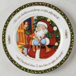 Portmeirion Christmas Story Santa Man Dinner Plate