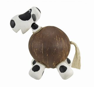 25611 milk cow recycled coconut shell coin money bank 3I