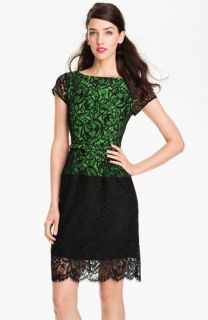 Nanette Lepore Belted Lace Sheath Dress