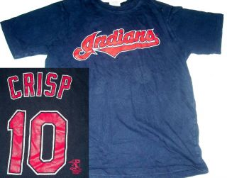 Vintage Cleveland Indians Coco Crisp Kids Jersey T Shirt YL Youth