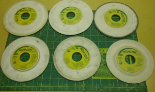 NORTON TOOL CUTTER GRINDING WHEELS 38A100 JVBE LOT OF 6 2271A