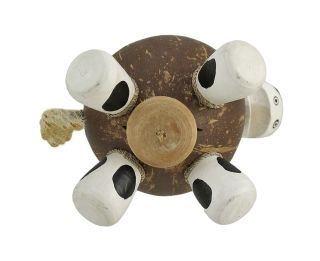25611 milk cow recycled coconut shell coin money bank 4I