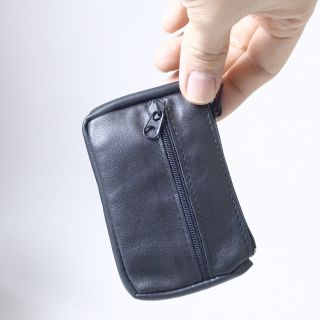 Soft Leather Mini Coin Wallet Zip Zippered Coin Change Pouch
