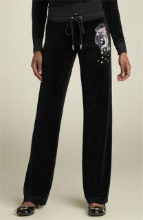 Juicy Couture Star Logo Velour Pants