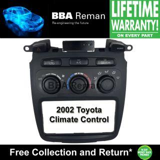 2002 Toyota Heater Climate Control Repair Service AC Heater Head 02