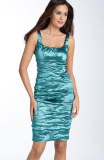 Nicole Miller Metallic Satin Sheath Dress ( Exclusive)