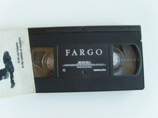 FARGO VHS Movie Video Tape Film By Joel & Ethan Coen G VG FREE SHIP